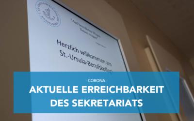 Aktuelle Erreichbarkeit des Sekretariats