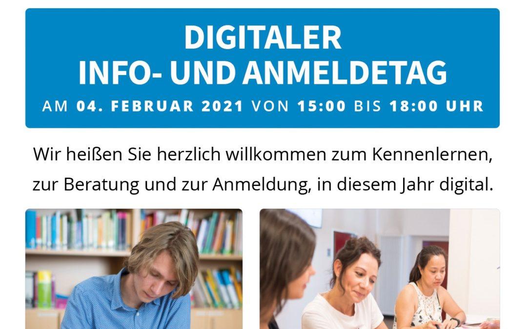 Info- und Anmeldetag: Digitale Anmeldung ab sofort möglich